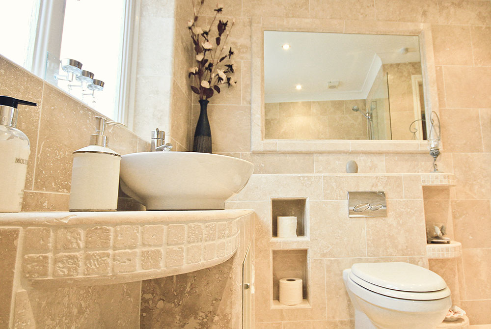 Natural stone bathrooms luxury bathrooms natural stone for Small bathroom natural